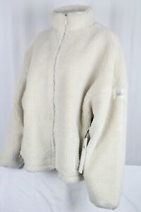 Alo Yoga Women's Flurry Sherpa Full Zip Jacket Size Large Bone
