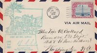 US Airmail 1931 First Flight Jamestown Tractor&Wheat Slogan Stamp Cover Rf 48521