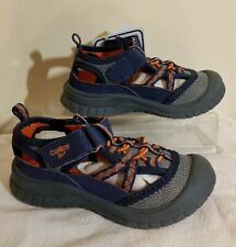 New OshKosh B'gosh Bax Toddler Boys Navy & Orange Athletic Sandals Shoes Sz 9 M