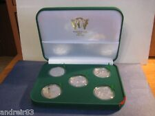 Set of 5 Ukrainian coins nickel silver UEFA EURO 2012 in case MC559