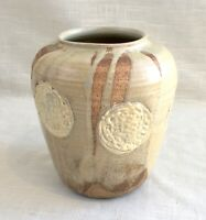 Vintage Hand Thrown Studio Art Pottery Vase - Signed, Mary ? 1973