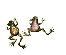Set of 2 FROGS Metal Wall Hangings