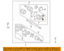 GM OEM Drive Axles-Front-Clamp 88897251