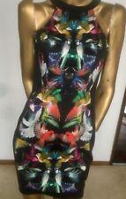 Hot cotton/elastine BARDOT 2tone bodycon dress sz8