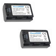 2X NP-FZ100 Batteries for Sony Alpha a7R III, A9, A9B, ILCE-7RM3, ILCE9, ILCE9B,