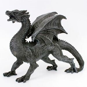 Dragon Watcher 31cm Long Nemesis Now Black Gothic Winged Dragon Guardian