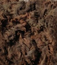 Alpaca Wool Fleece Fibre for Spinning -UNUSUAL DARK BROWN- Raw -Blanket-1.370kg