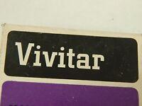 GENUINE ORIGINAL VIVITAR 55mm OPTICAL GLASS MEDIUM YELLOW K2 Y2 SCREW in FILTER