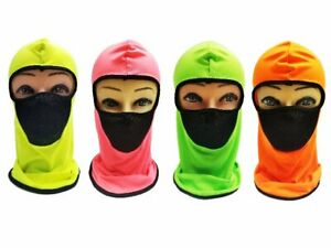 Adult Neon Ninja Face Mask With Front Mesh