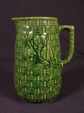 RARE GREEN GLAZE 1916 McCOY WILLOW WARE PITCHER YELLOW WARE MINT
