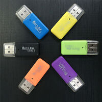 Hot Mini USB SD/MMC Memory Card Reader 480Mbps For Computer Laptop USB Card Dz