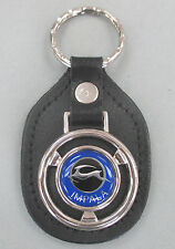 Vintage Blue Chevrolet IMPALA Steering Wheel Black Leather Chevy Keyring