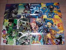"""Lot of 11 WIZARD PROMO POSTERS 10"""" x 13"""" DC SUPERHEROES & MARVEL WOLVERINE"""