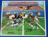 CHARLES MCKIMSON SIGNED 14X17 1994 FOOTBALL Looney Tunes Animation Cell 105/250