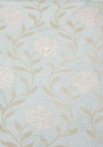 LIGHT SPEARMINT LEAVES&FLOWERS DESIGNER LOOK ART DECO CURTAIN'S/UPHOLSTERY 140CM