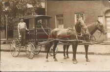 RPPC SALTSBURG, PA INDIANA COUNTY HORSE DRAWN MILK DELIVERY WAGON