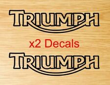 Triumph motorcycle logo tank decal sticker 200mm x 51.5mm choose your color