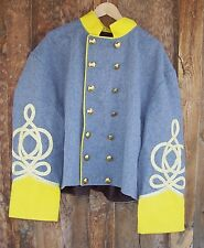 civil war confederate reenactor shell jacket with 4 braids 52