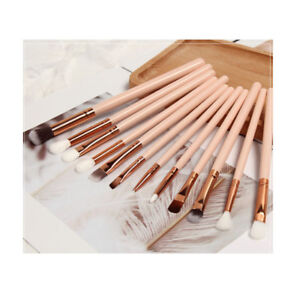 12pcs Make up brushes set Eyeliner Eye Lip Shadow Brow Blend Brush Powder Kabuki