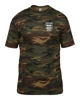 CHELSEA 3 LIONS CLUB AND COUNTRY SMALL CREST CAMO T-SHIRT MENS