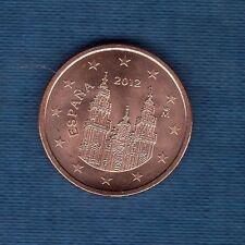 Espagne - 2012 - 5 centimes d'euro - Pièce neuve de rouleau -