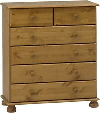 Steens Richmond Solid Pine 4+2 Chest of Drawers Metal Drawer Runners
