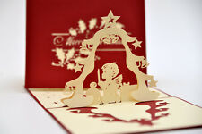 Handmade 3D Pop Up Merry Christmas Angel Prayer Card
