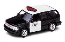"Welly 2001 GMC Yukon Denali Highway Patrol vehicle 1:60 S scale 2.75"" long"
