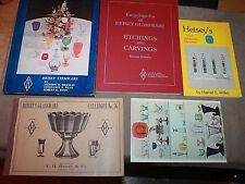HEISEY GLASS BOOKS 2 signed STEMWARE Etchings Carvings Encyclopedia Catalog CUT
