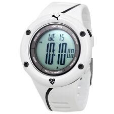 Puma Cardiac 01 Digital Dial White Resin Mens Watch PU911361004U