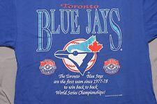 Vintage Toronto Blue Jays L T-Shirt 90's 1994 MLB Baseball NWT NOS Deadstock