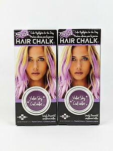 Splat Hair Chalk Temporary Color Highlights Violet Sky 3.5 g SEALED Lot of 2