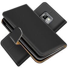 Handy Hülle Samsung Galaxy S2 S2+ Schutz Klapp Etui Book Cover PU Leder Tasche