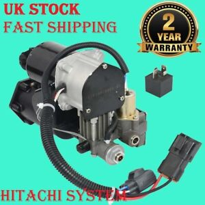 Air Suspension Compressor Pump Hitachi+Relay For Range Rover Sport Discovery 3&4