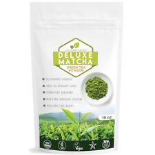 Matcha Outlet Deluxe Japanese Green Tea Powder 16oz FREE 1-3 Day USA Shipping