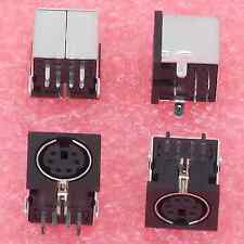 12× PS/2 JACK, 6 PIN MINI DIN SOCKET, FEMALE CONNECTOR, RIGHT ANGLE PCB MOUNT †