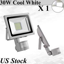 30W PIR Motion Sensor Led Flood Lights Cool White Outdoor Lanscape Spot Lamp