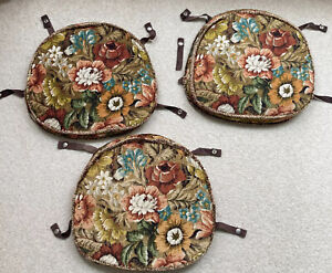 Ercol Vintage Cushions / 3 Original Seat Pads for Ercol Chairs Floral Mix Used!!
