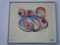 RUDOLF ZECH EXPRESSIONIST PAINTING DRAWING ABSTRACT EXPRESSIONISM NON OBJECTIVE