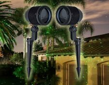 (2) Green Blisslights Spright Outdoor Holiday Projector Laser Light Package Deal