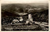 HORNISGRINDE Schwarzwald alte Postkarte um 1940 Burg Blick über Mummelsee