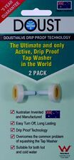 TAP WASHERS * DOUST * 1 PAIR  * HOT & COLD WATER * Made in Australia *