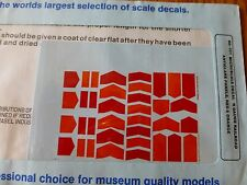 Microscale Decal N  #60-451 Red & Orange Anti-Glare Panels
