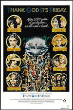 Thank God It's Viernes (1978) Donna Summer Culto Musical Cartel de Película