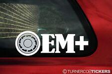 2x  'OEM+' pirelli P-Slot wheel silhouette oem plus , stickers / Decals