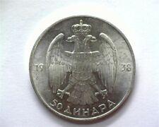 YUGOSLAVIA 1938 50 DINARA KM-24 GEM+ UNCIRCULATED