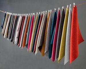 Plain Soft Linen Look Fabric Designer Upholstery Curtain Sofa Cushion Material