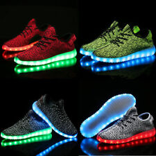 Hot Unisex 7 color LED Light Lace Up Sneaker Shoes USB rechargeable Yzy