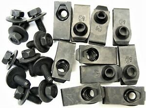 For Toyota Body Bolts & U-nut Clips- M6-1.0 x 16mm- 10mm Hex- 20 pcs (10ea) #378