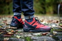 Mens Nike Huarache Utility Mid Sneakers New, Red / Black 806807-600 in box
